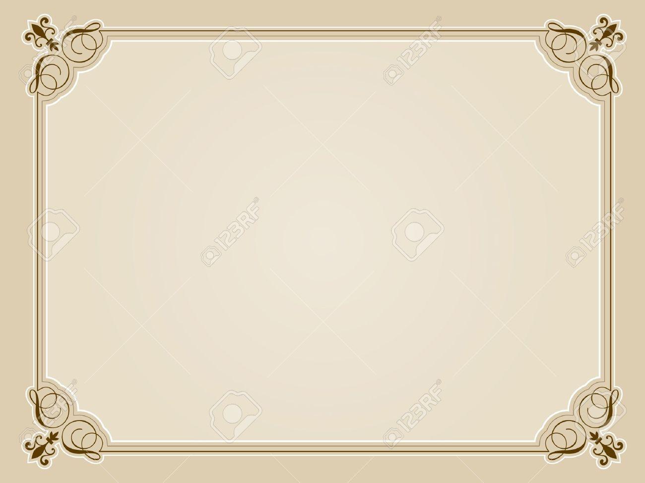 blank certificate design