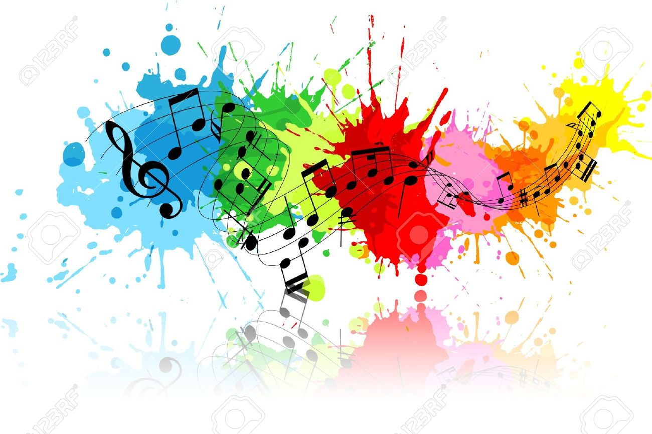 Image result for image of colourful music