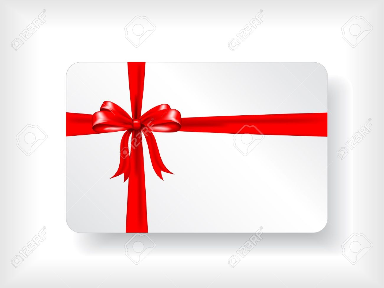 Christmas gift card design with red ribbon Stock Photo - 7426074