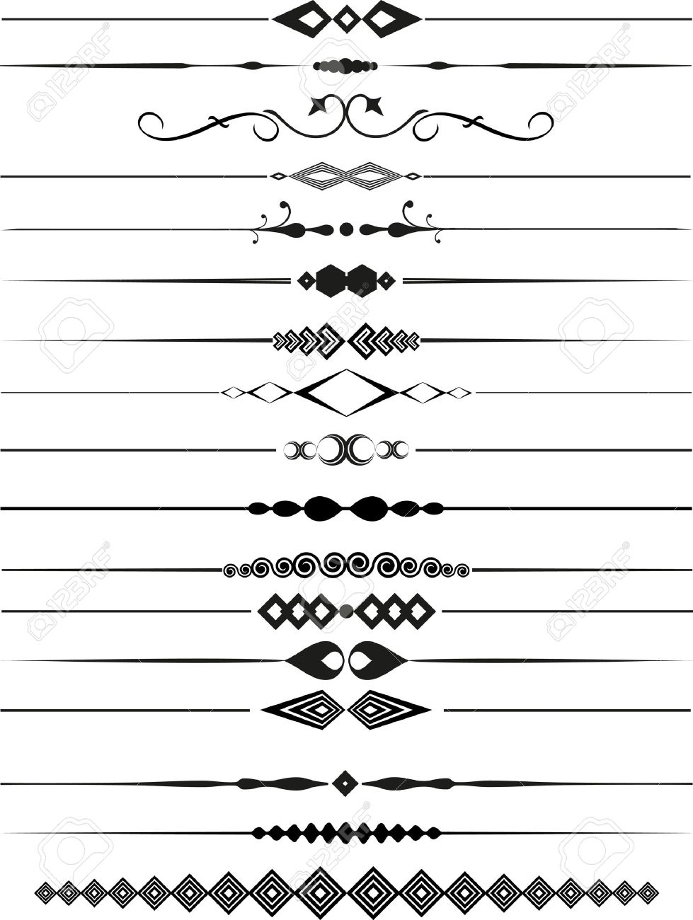 Collection of decorative page dividers Stock Photo - 8098961