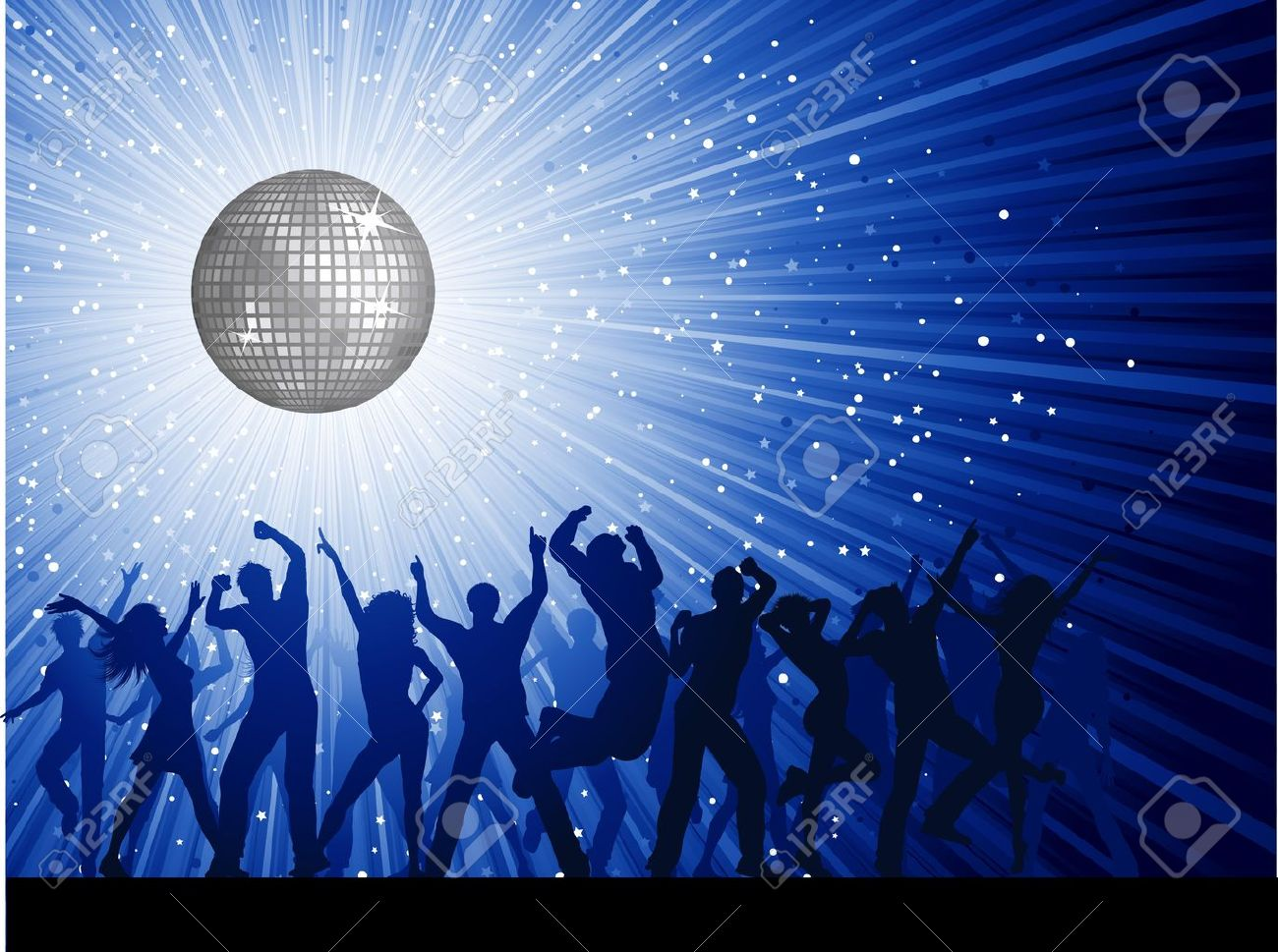 Image result for disco ball crowd