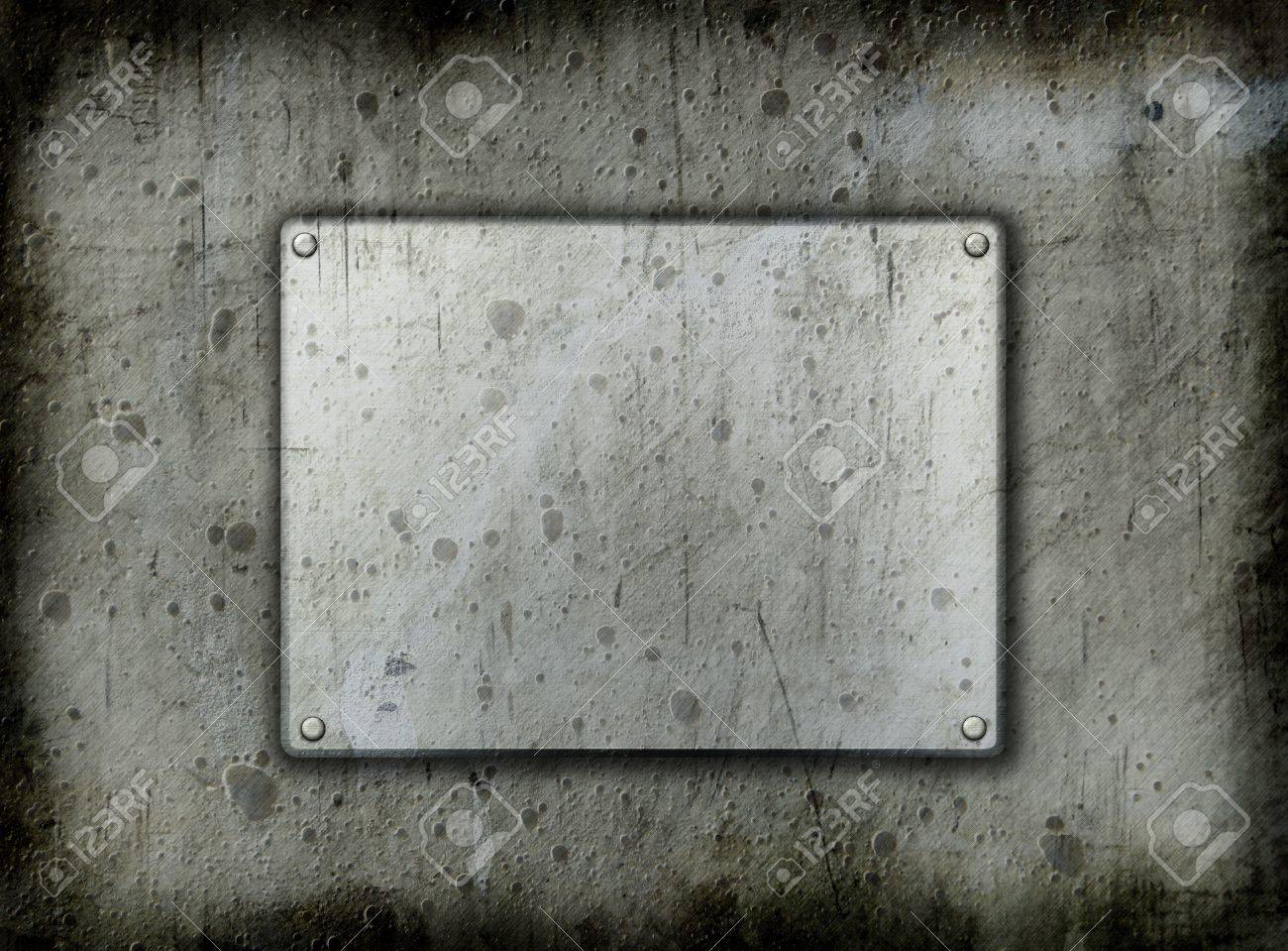 Dirty metal background with a grunge effect Stock Photo - 9440528