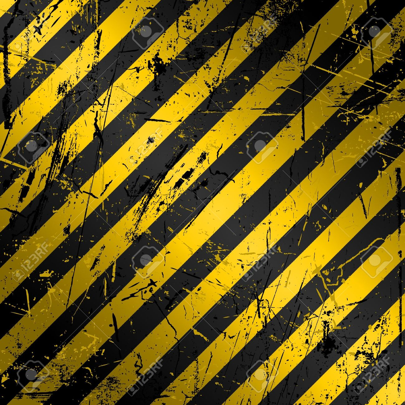 Border frame with black and yellow stripe on white background - Stripes Background Textured Grunge Construction Background In Yellow And Black