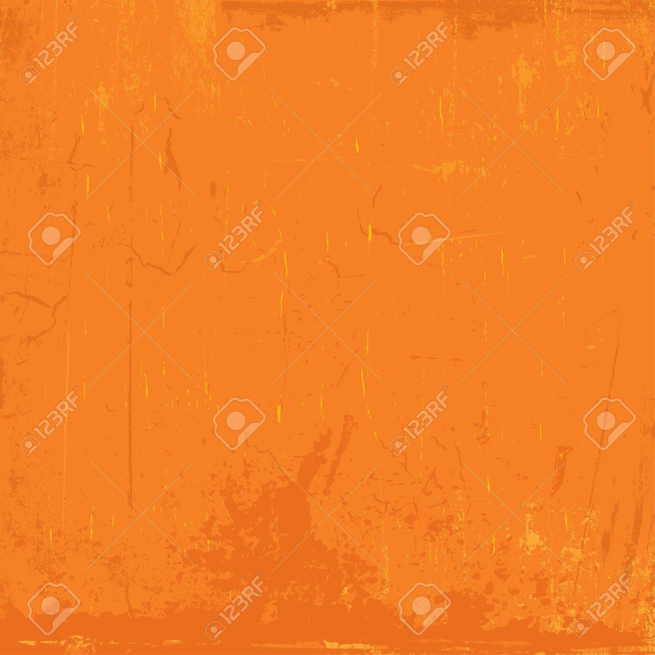 Grunge background with scratches and stains in shades of orange Stock Vector - 9736653