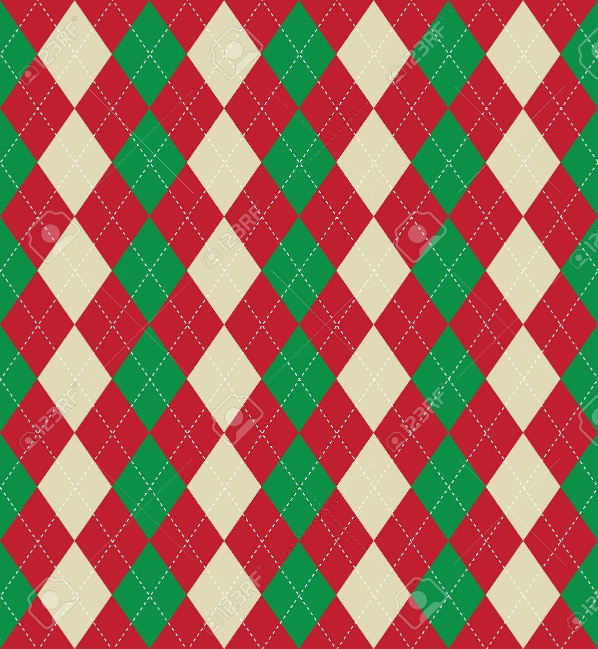 Seamless Tiled Background Of An Argyle Style Pattern Using ...