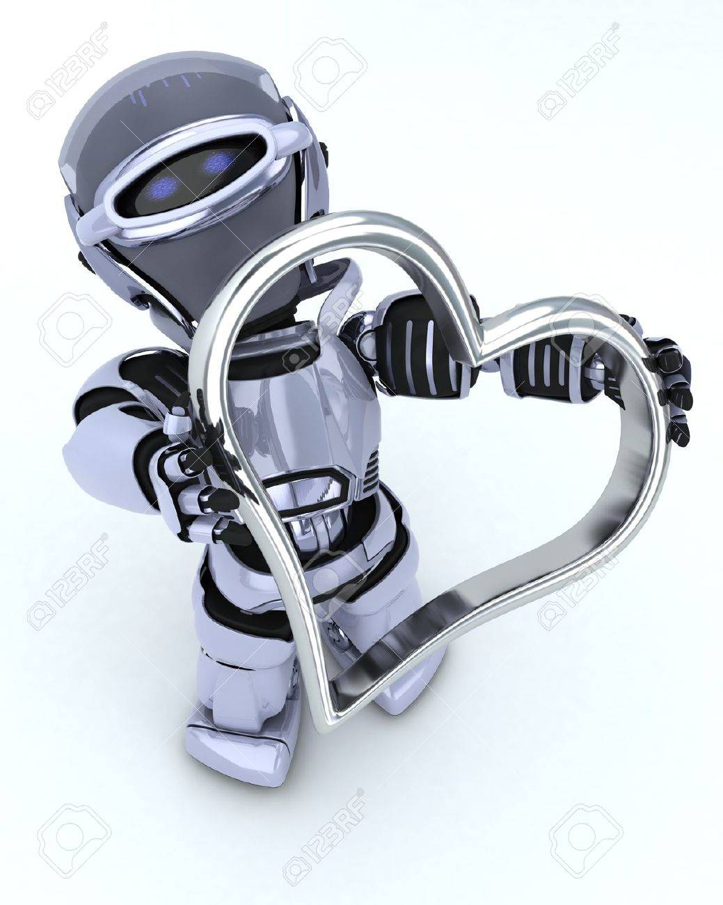 3D render of a Robot with heart charm Stock Photo - 17664774