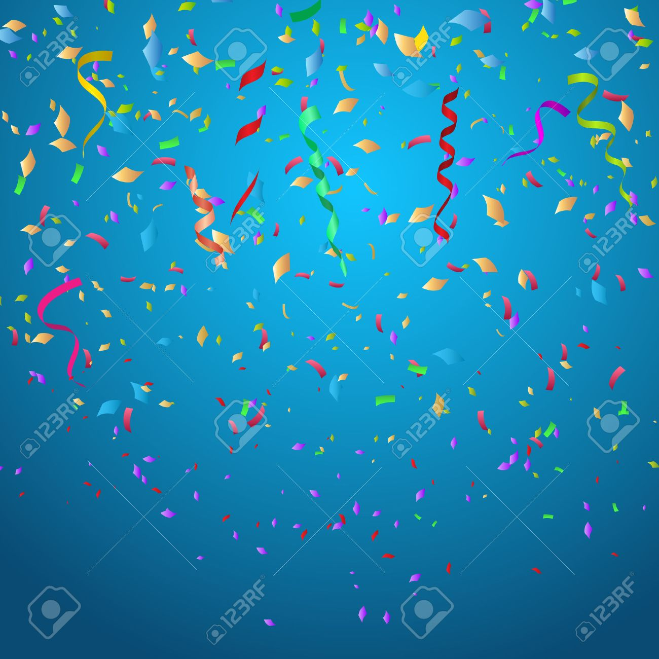 Confetti Background Ideal For Christmas Or Birthdays Stock Photo