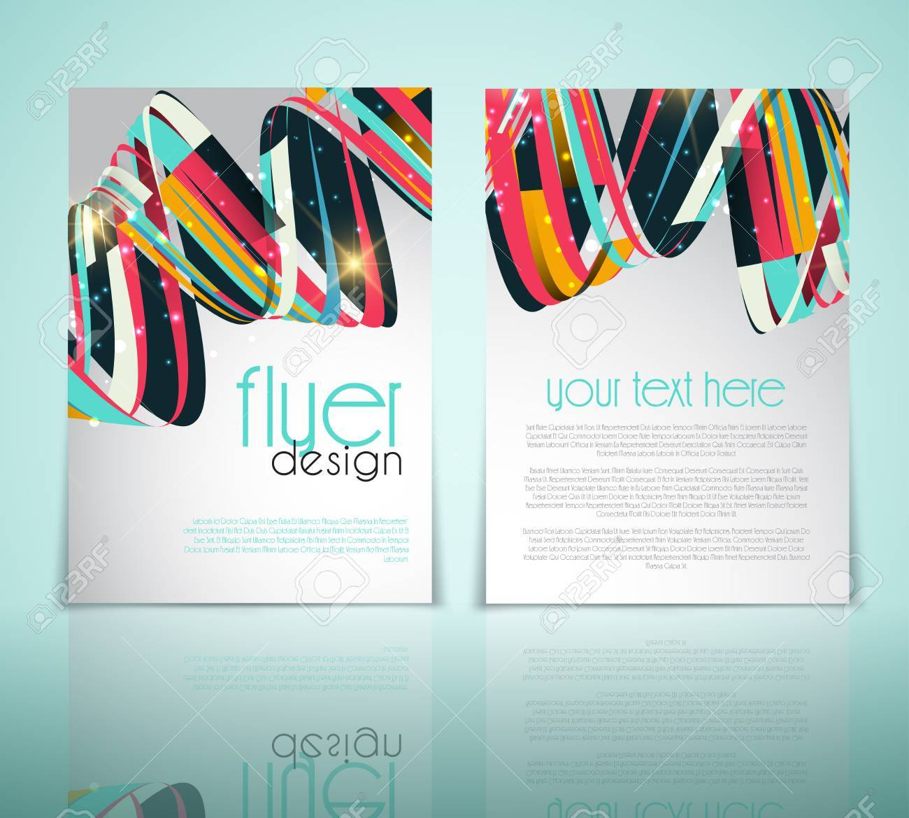 Double Sided Flyer Template With An Abstract Design Stock Photo ...