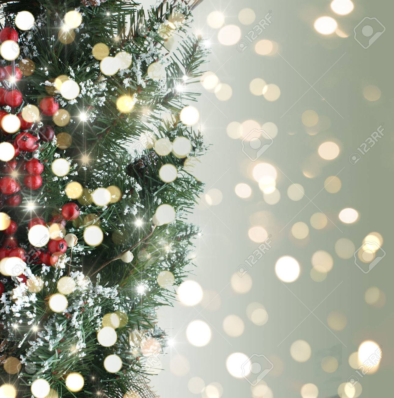 Christmas Tree Backgrounds.Christmas Tree Background With Bokeh Lights