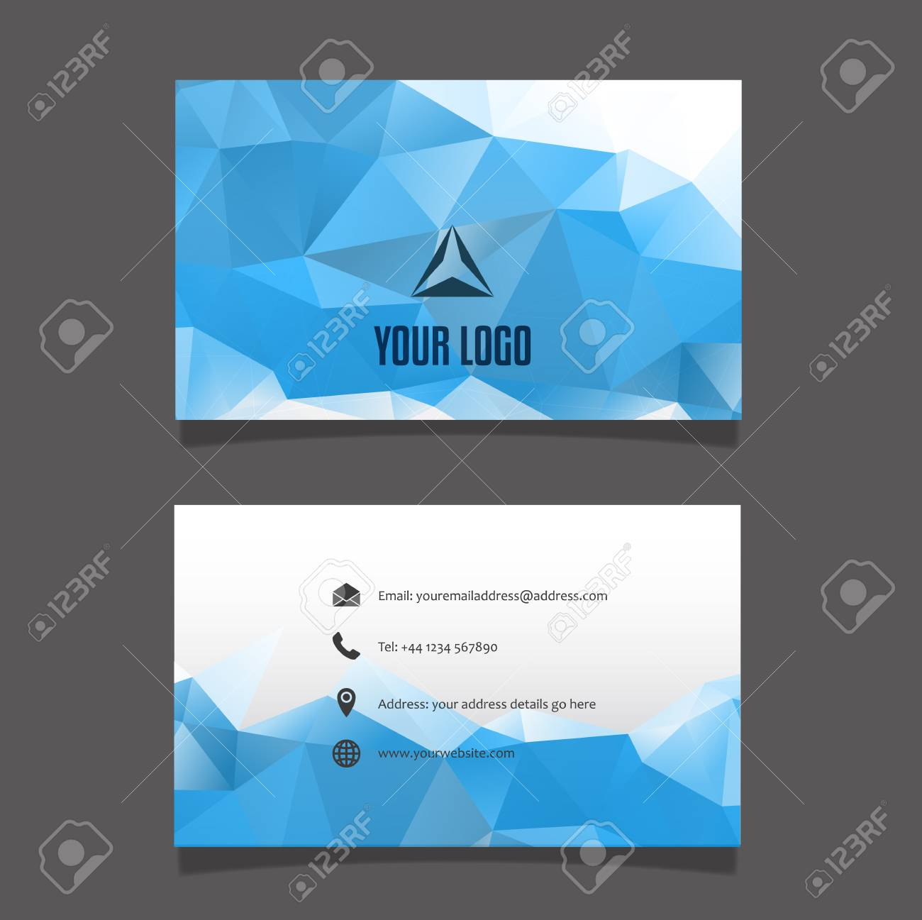 Modern business card layout with geometric design stock photo modern business card layout with geometric design stock photo 53848121 colourmoves