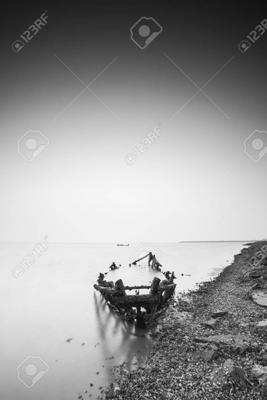 Wooden Frame And Breakwater Stock Photo, Picture And Royalty Free ...