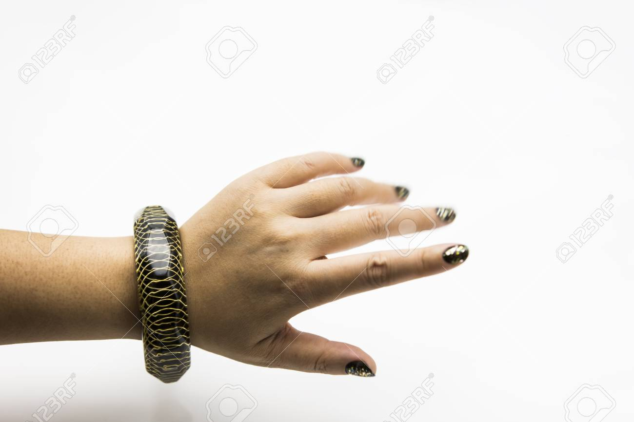 Hand Model Wearing Bracelets Stock Photo, Picture And Royalty Free ...