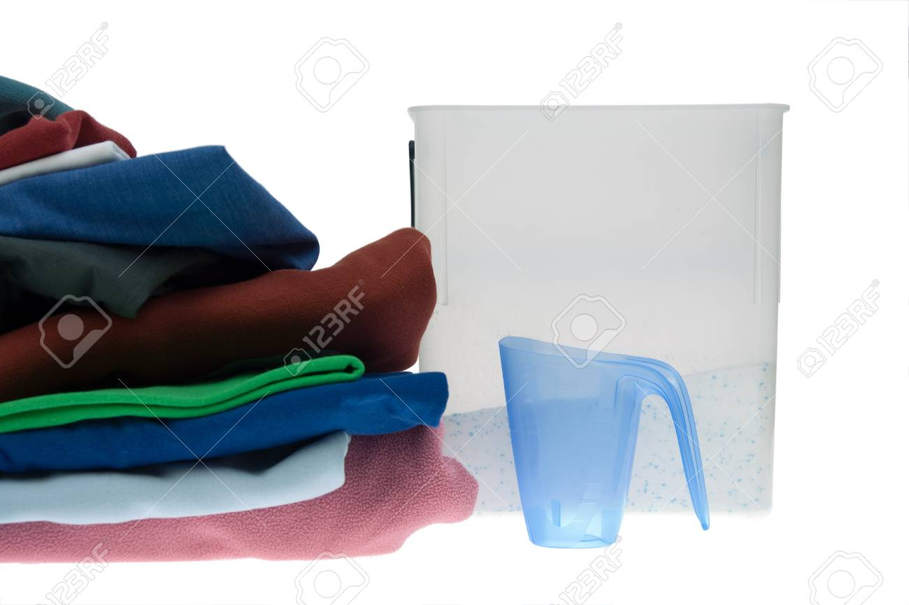 Pile of dirty clothes for the laundry - isolated on white Stock Photo - 8140718