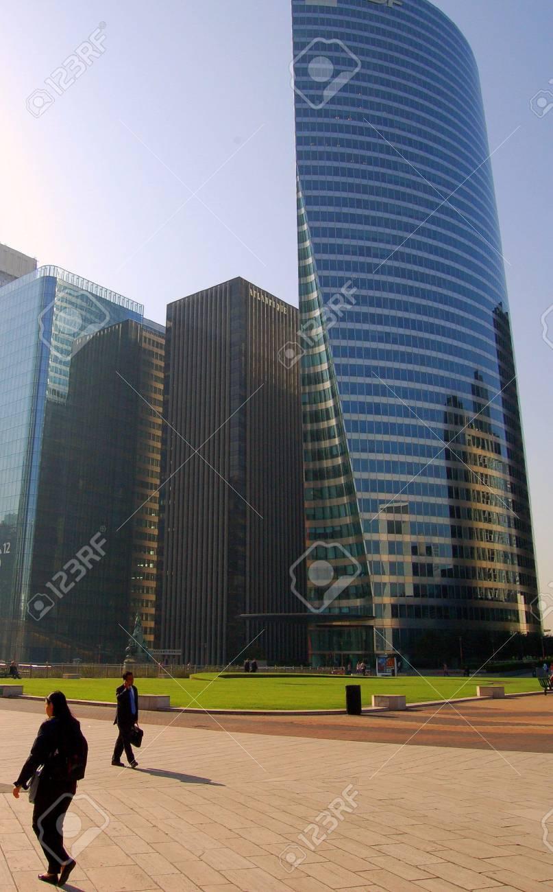 Modern Skyscraper in la D�fense, Paris Stock Photo - 1352833