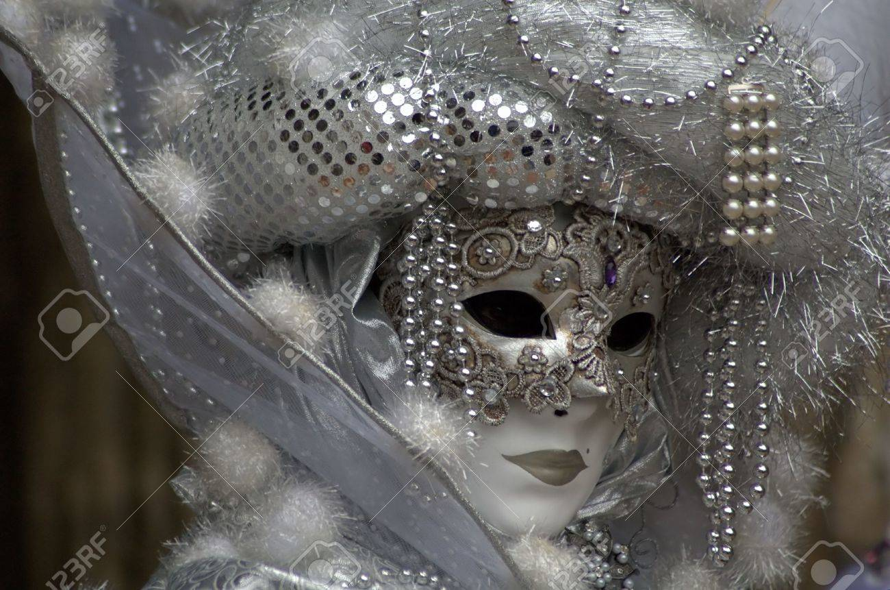 A woman with a mask in the Venice carnival Stock Photo - 2619383