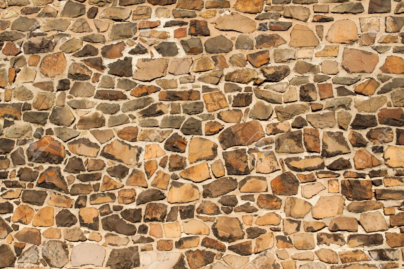 wall from big stone , wallpaper Stock Photo - 7331609