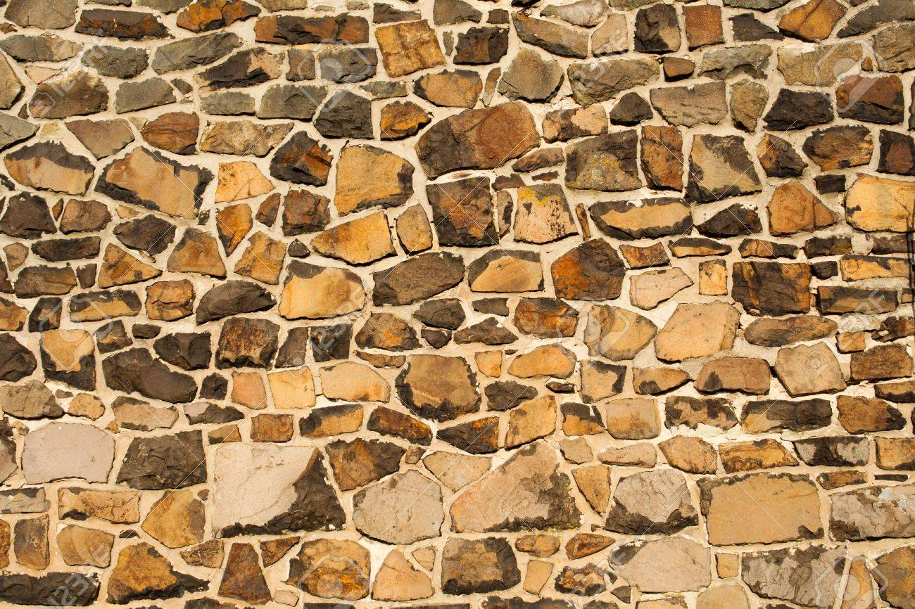 Stone Wall Paper wall from big stone, wallpaper stock photo, picture and royalty