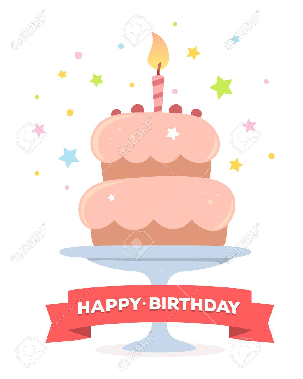 Incredible Colorful Illustration Happy Birthday Template Poster With Pink Funny Birthday Cards Online Inifofree Goldxyz