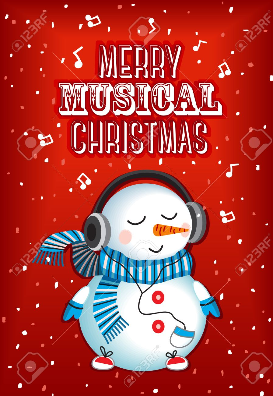 Merry Musical Christmas Royalty Free Cliparts Vectors And Stock
