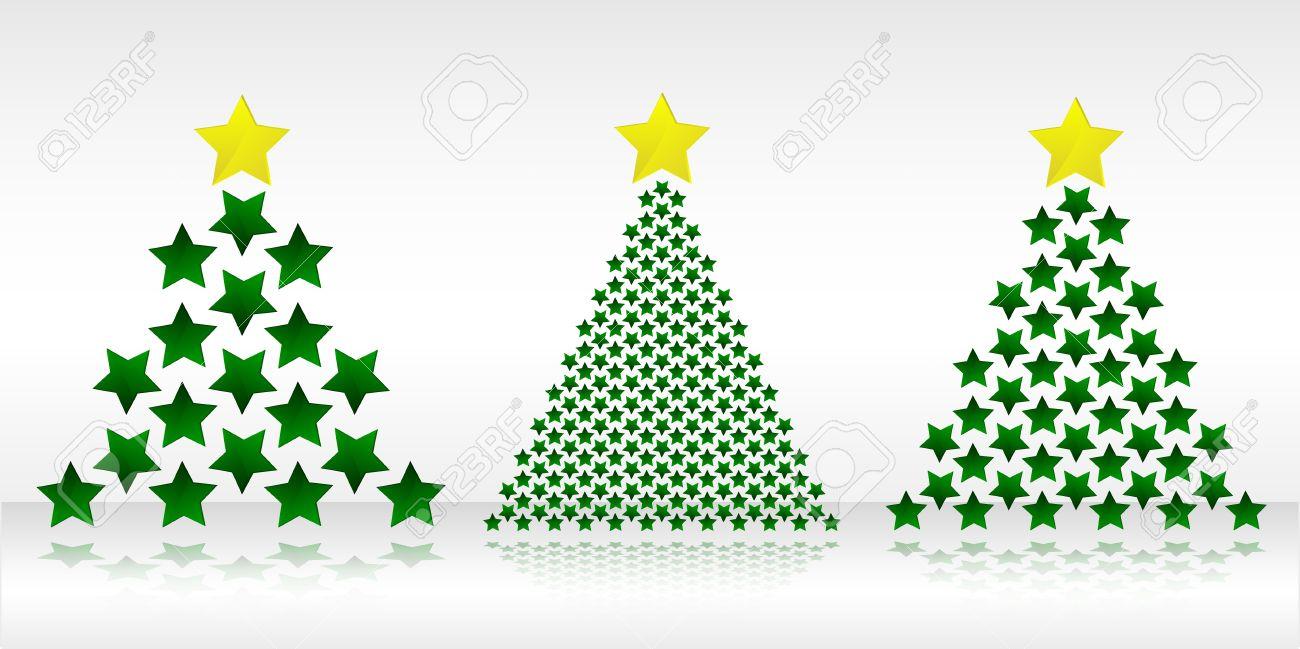 Estrella arbol navidad vector