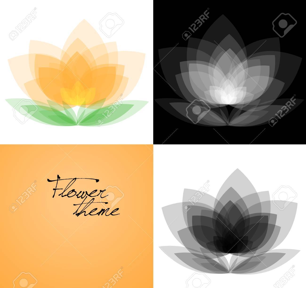 Vector background variations set - orchid Stock Vector - 20275655