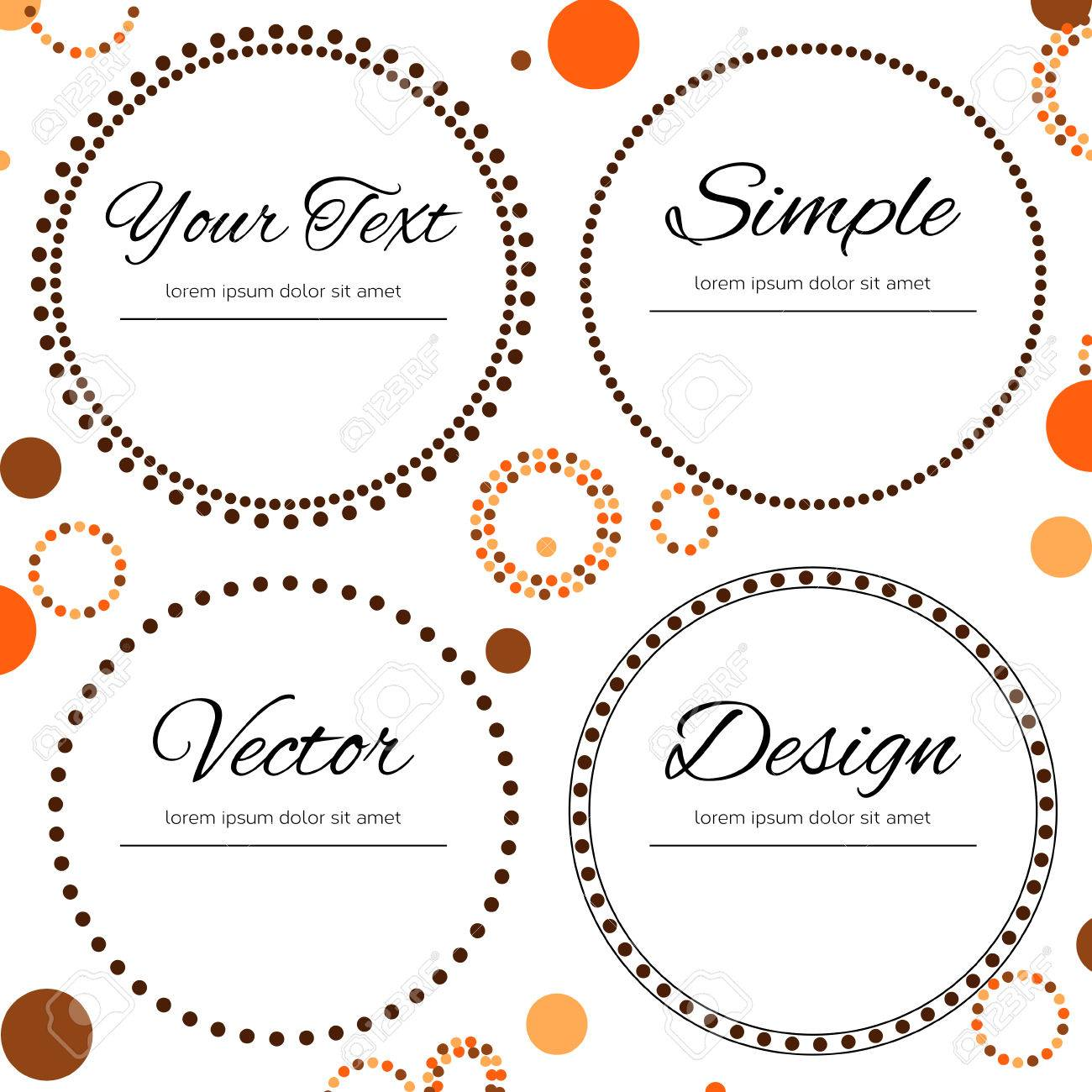 Dotted design in autumn colors for your text - four dotted circles - 31400043