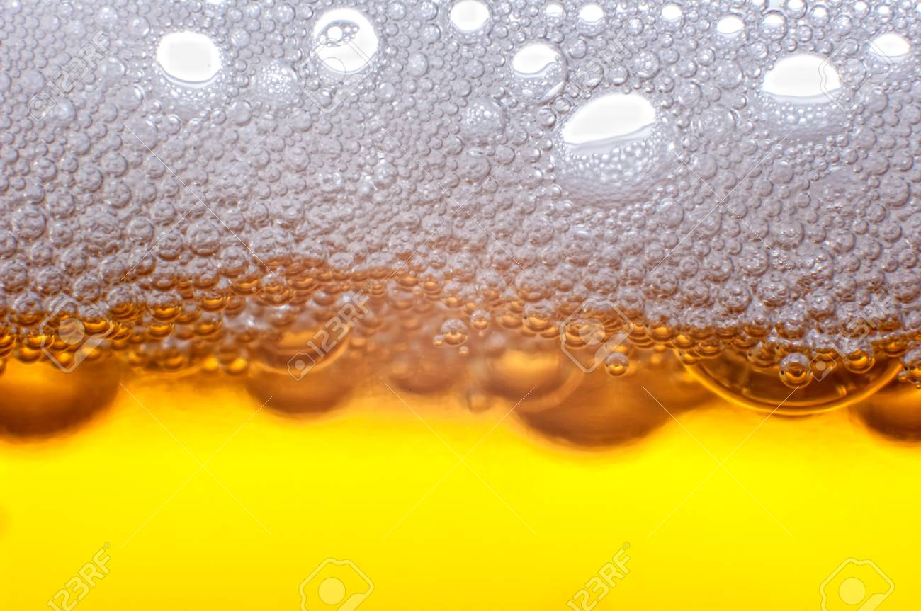 Beer bubbles in the high magnification and close-up. Stock Photo - 17352434