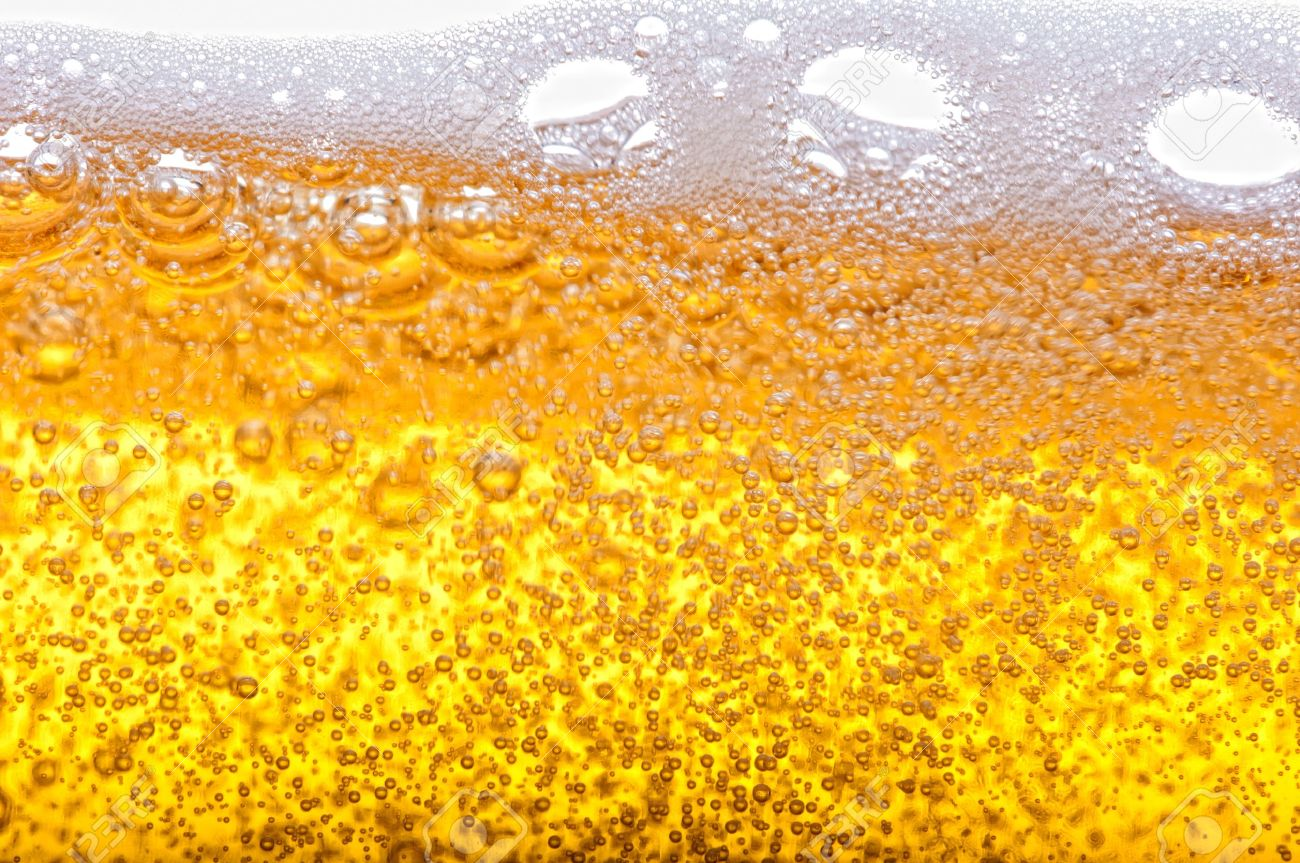 Beer bubbles in the high magnification and close-up. Stock Photo - 17352544