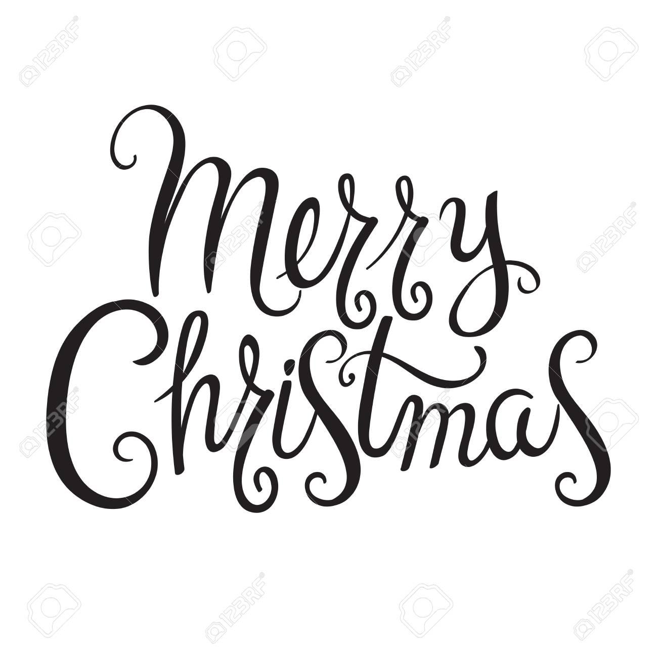 Mano De Diseño Caligráfico Dibujado Feliz Navidad Greeting Text Letras Para La Tarjeta De Invitación Y De Felicitación Grabados Y Carteles