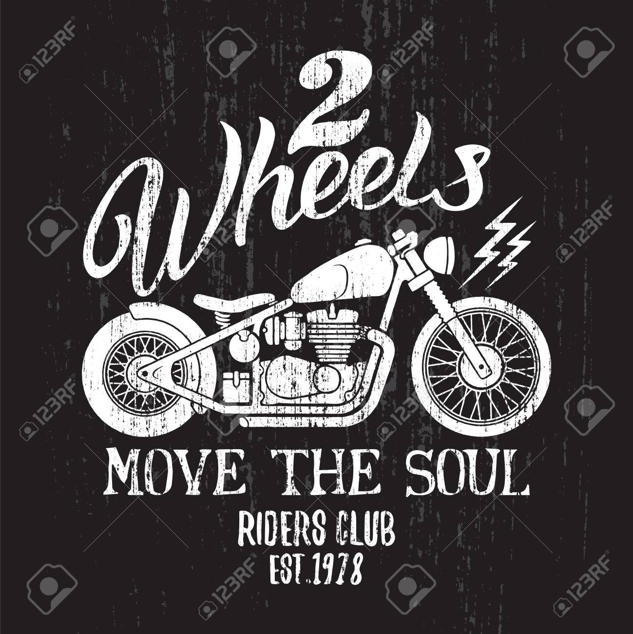 af7e23c24 Custom Motorcycle t-shirt graphic. Vintage typography design for tee or  apparel. Stock