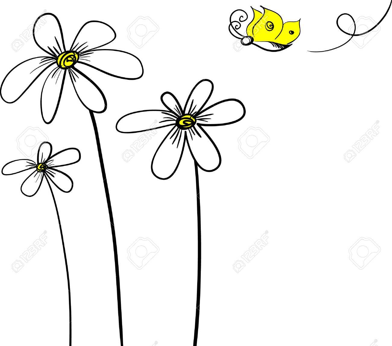 flower background.Easy to edit layers. - 5857482