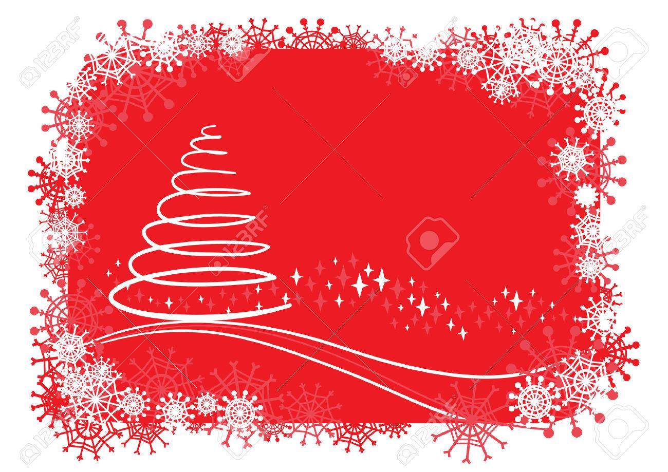 christmas background.Easy to edit layers. - 5857710