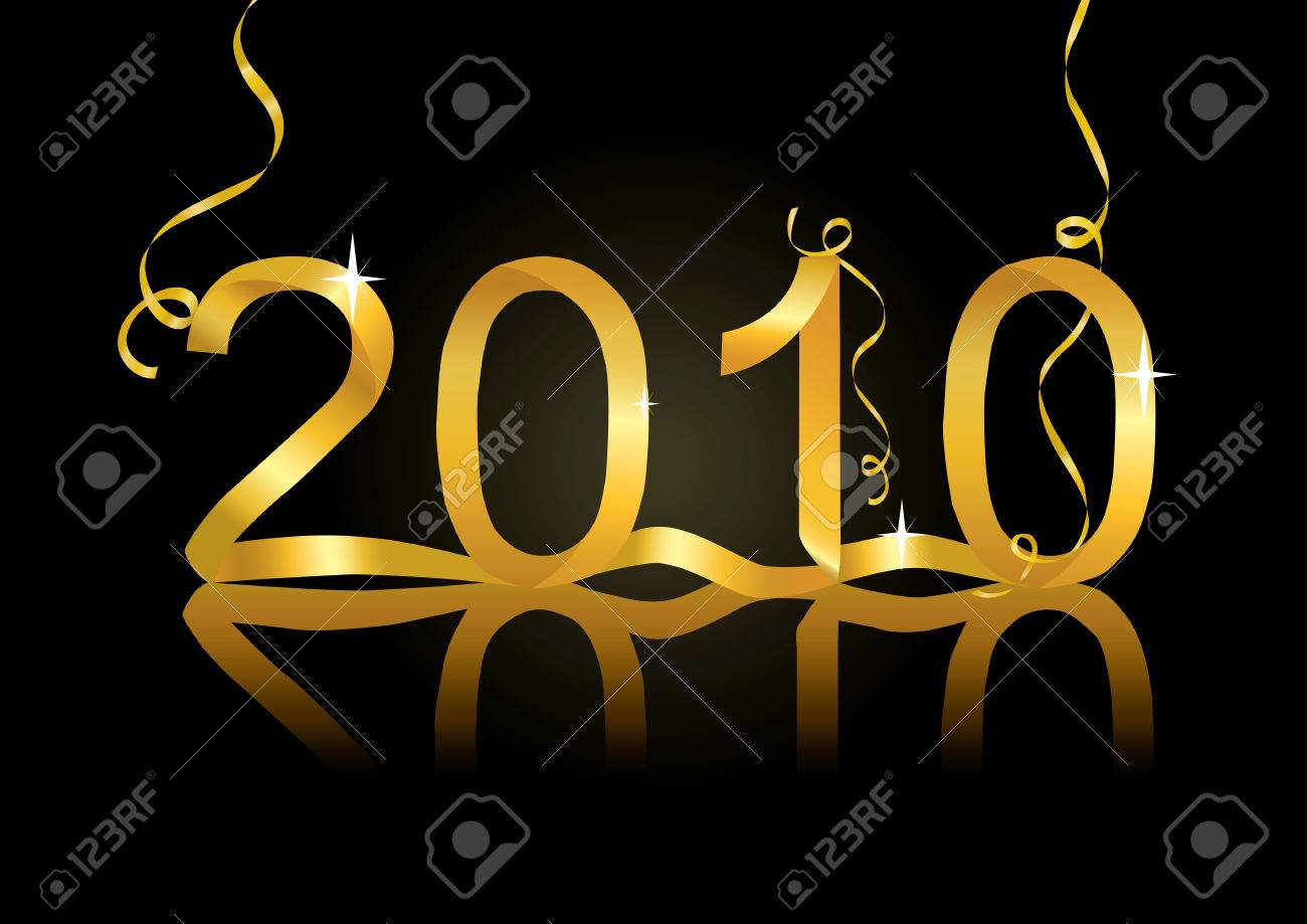 New Year's eve decoration for 2010 Stock Vector - 5920195
