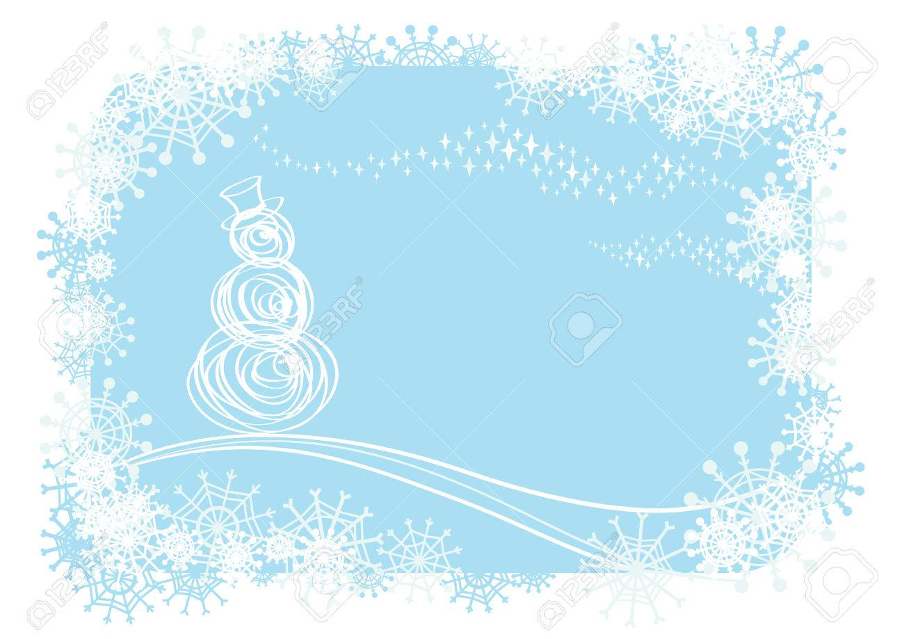 Vector christmas background.Easy to edit layers. - 6086947