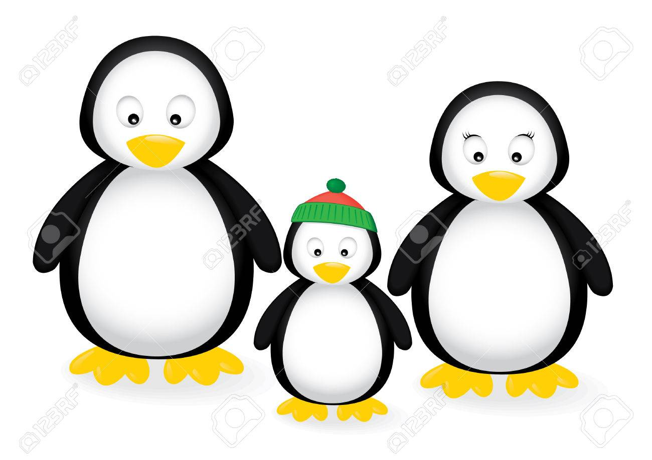 illustration of a penguin family Stock Vector - 6251954
