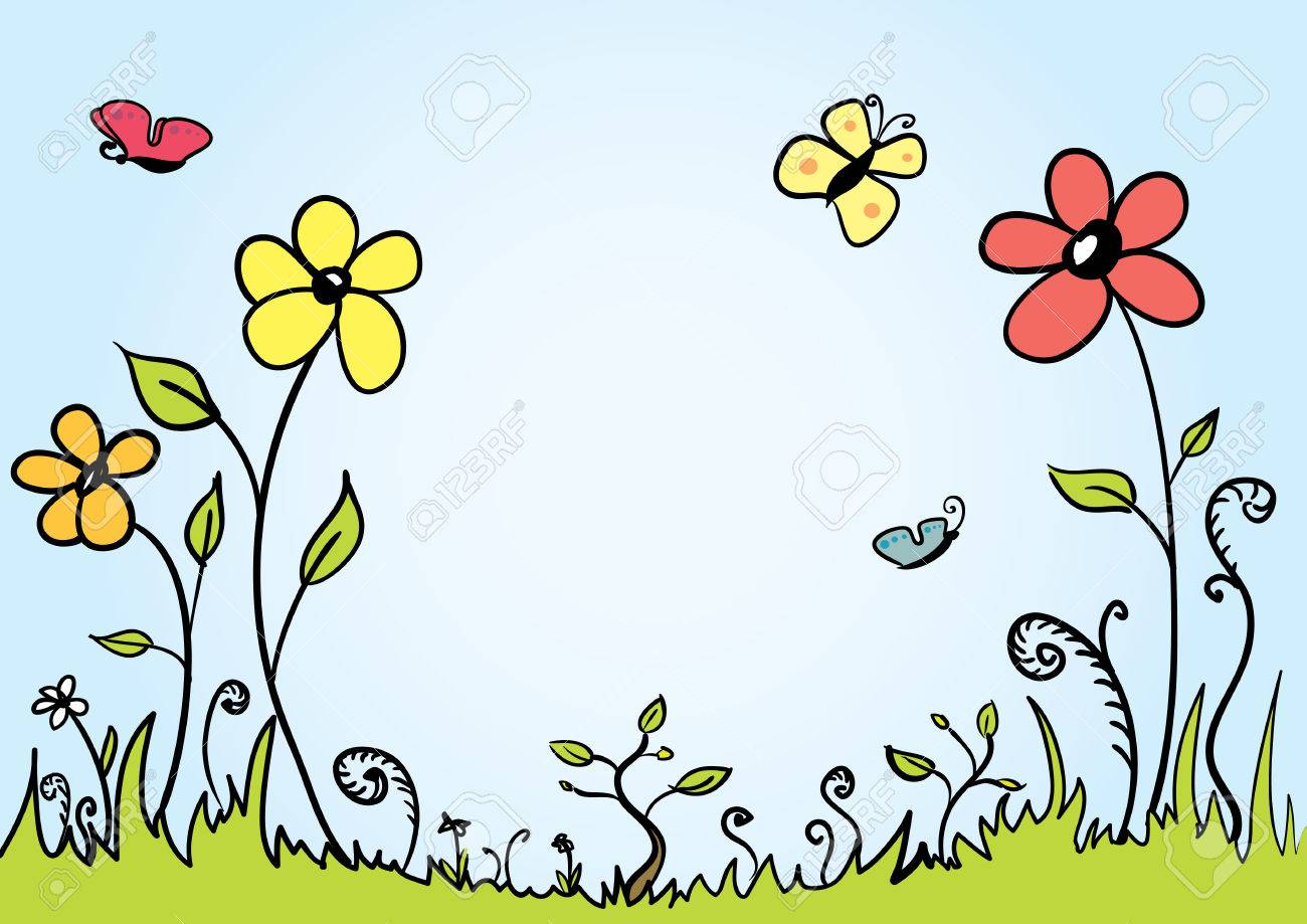Spring background with room for your text - 6439919