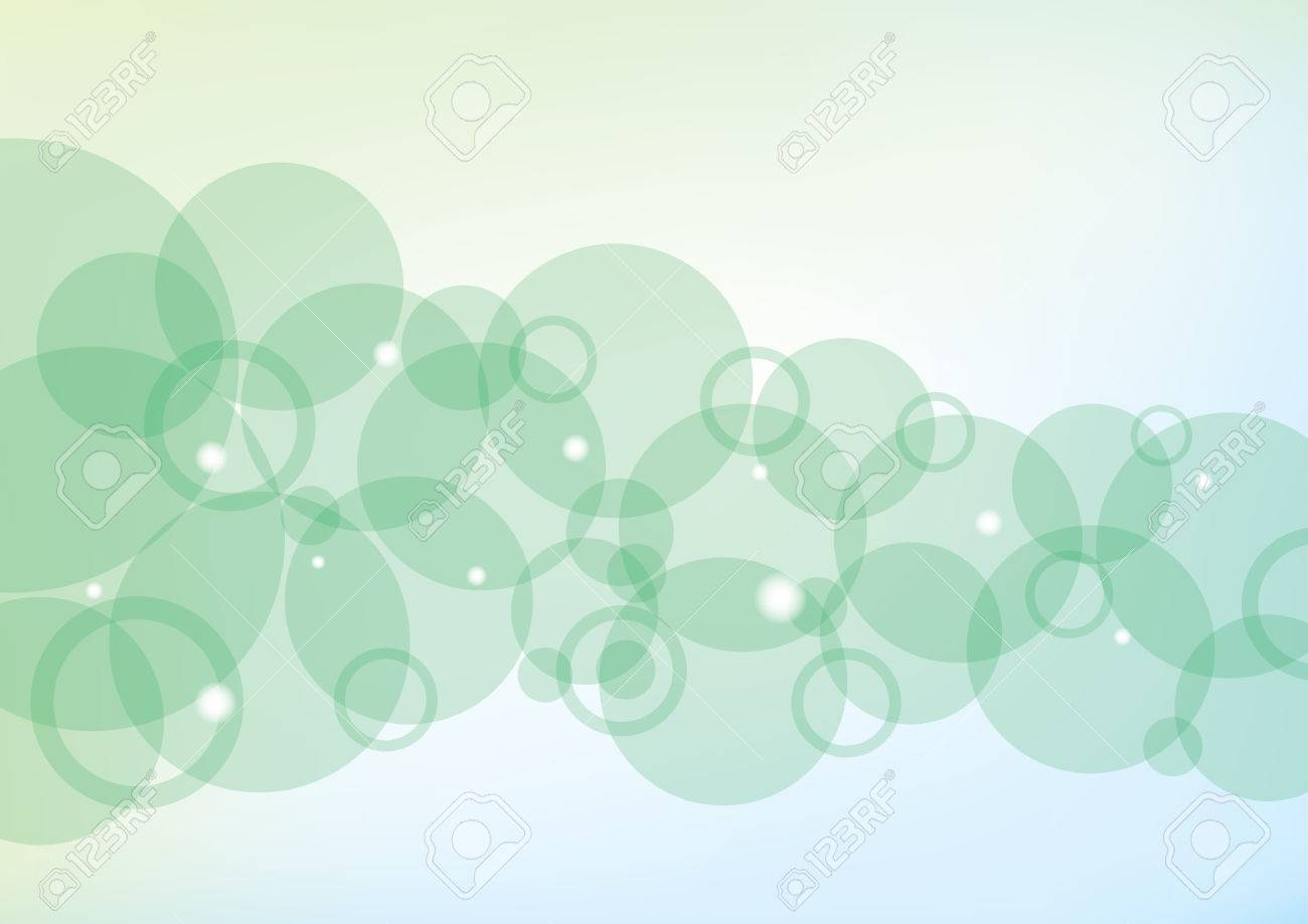 Modern background with green bubbles and lights - 7108946