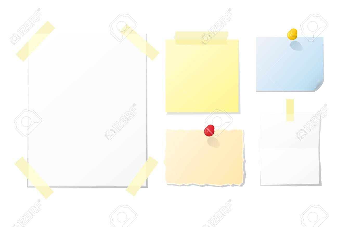 Collection of blank notes and papers for your design - 7289396