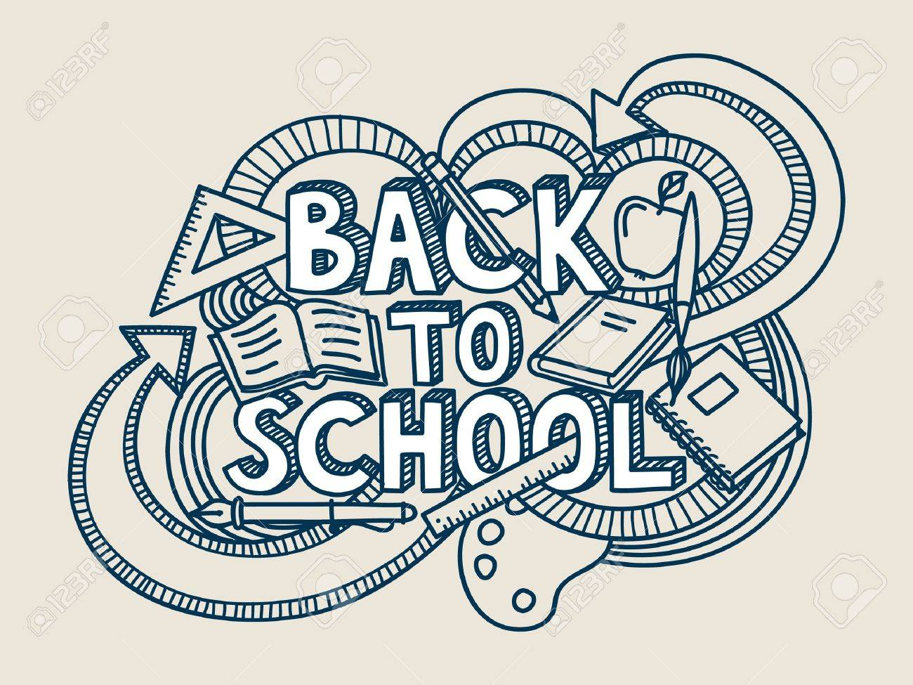 Back to school doodle. - 15028239