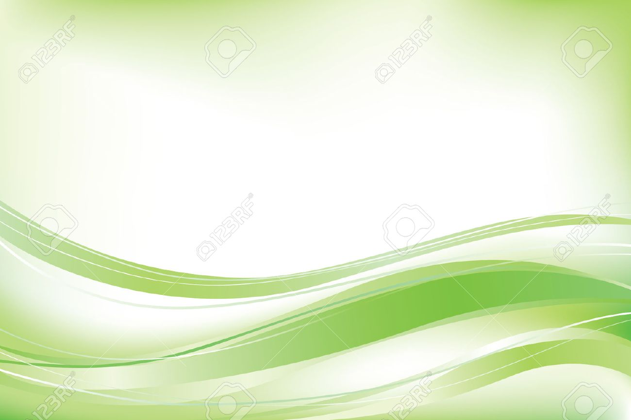 Green abstract vector wave background - 45063937
