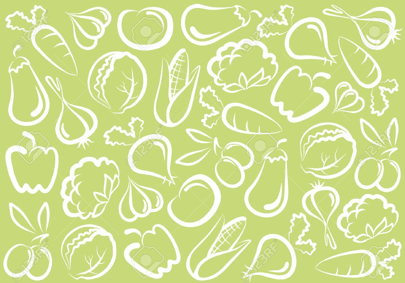Seamless vegetable background Stock Vector - 6636183