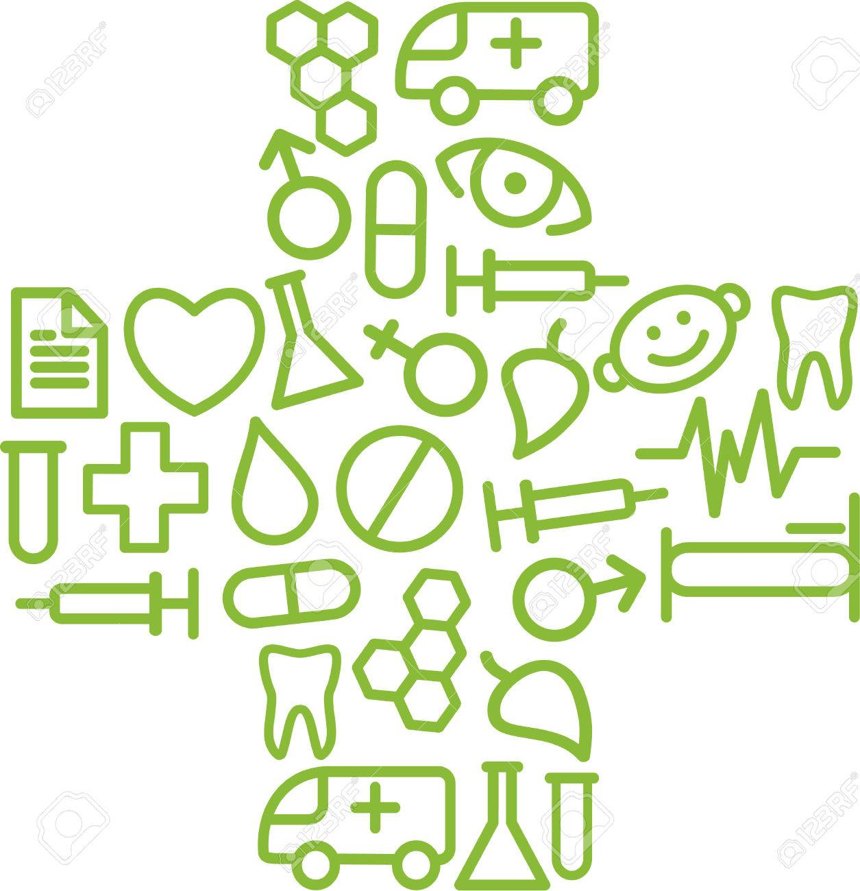 Medical symbol in the form of a cross Stock Vector - 6636268