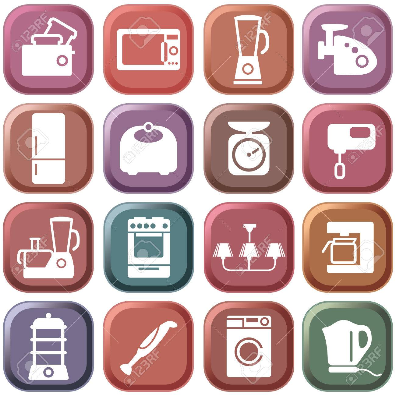 Kitchen home appliances Stock Vector - 6636297