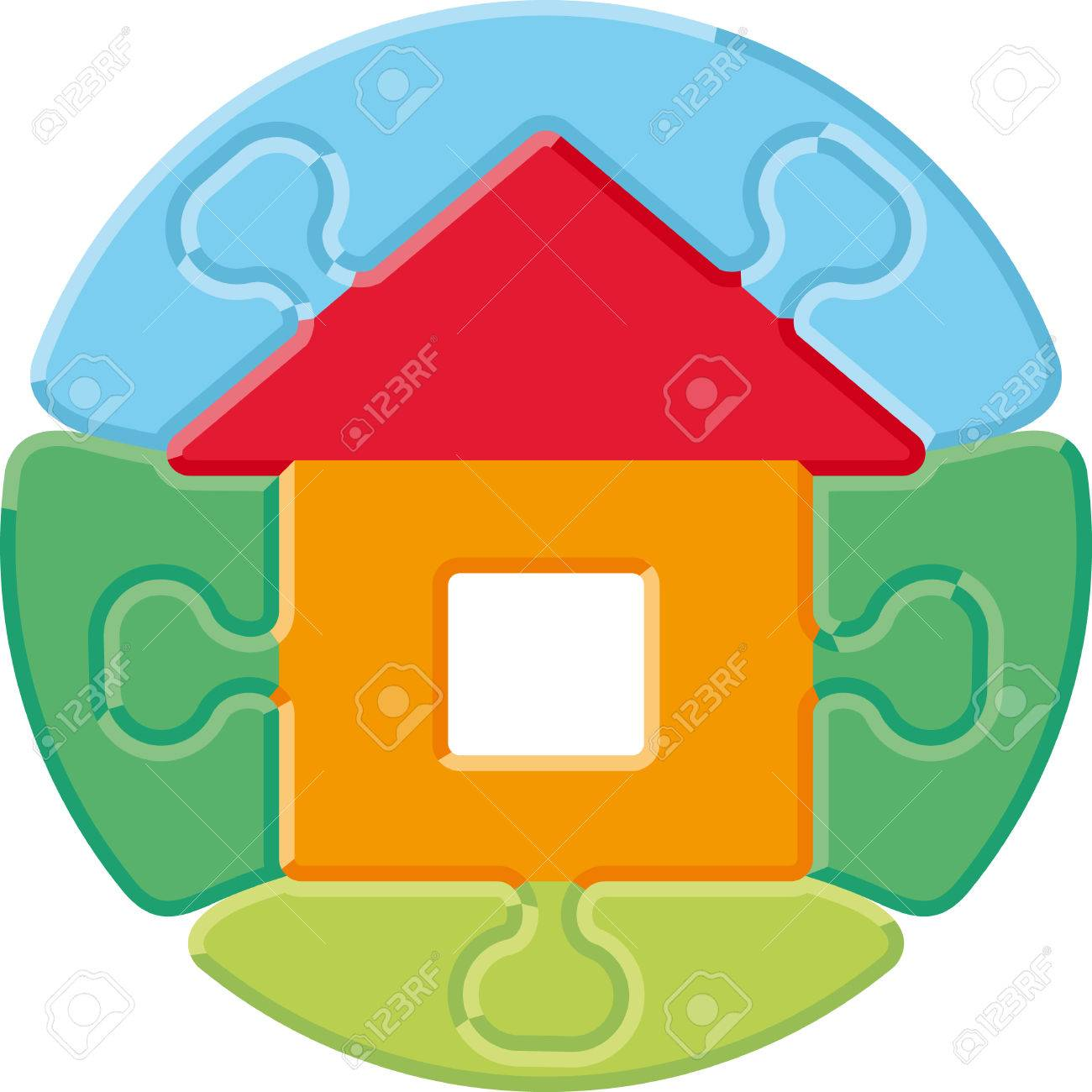 Small house � puzzle Stock Vector - 6636220