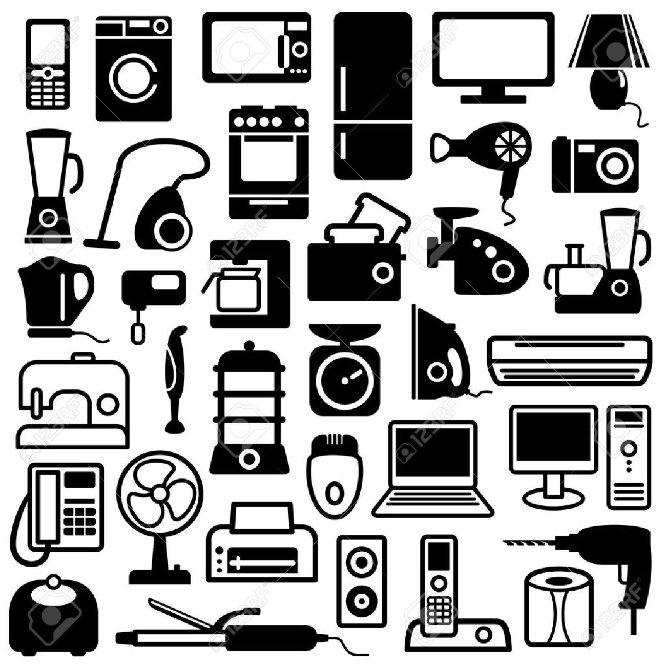 Home appliances icons - 6636309