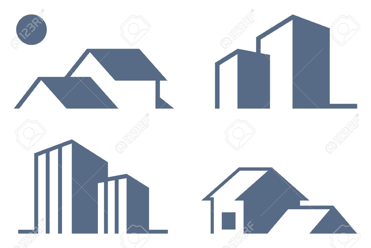 Simple symbols of real estate royalty free cliparts vectors and simple symbols of real estate stock vector 7164034 biocorpaavc Image collections