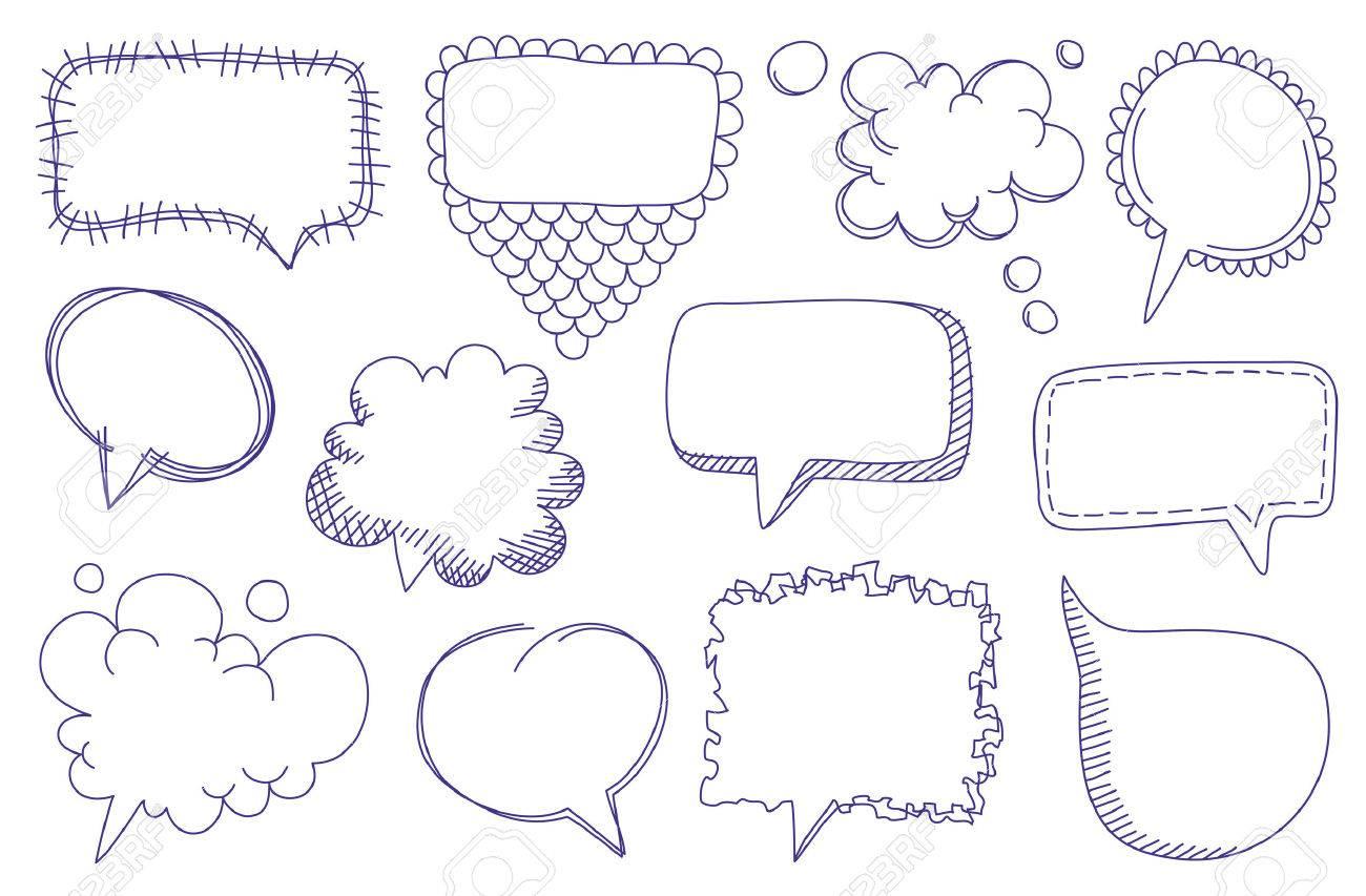Doodle sketch speech bubbles Stock Vector - 8296491