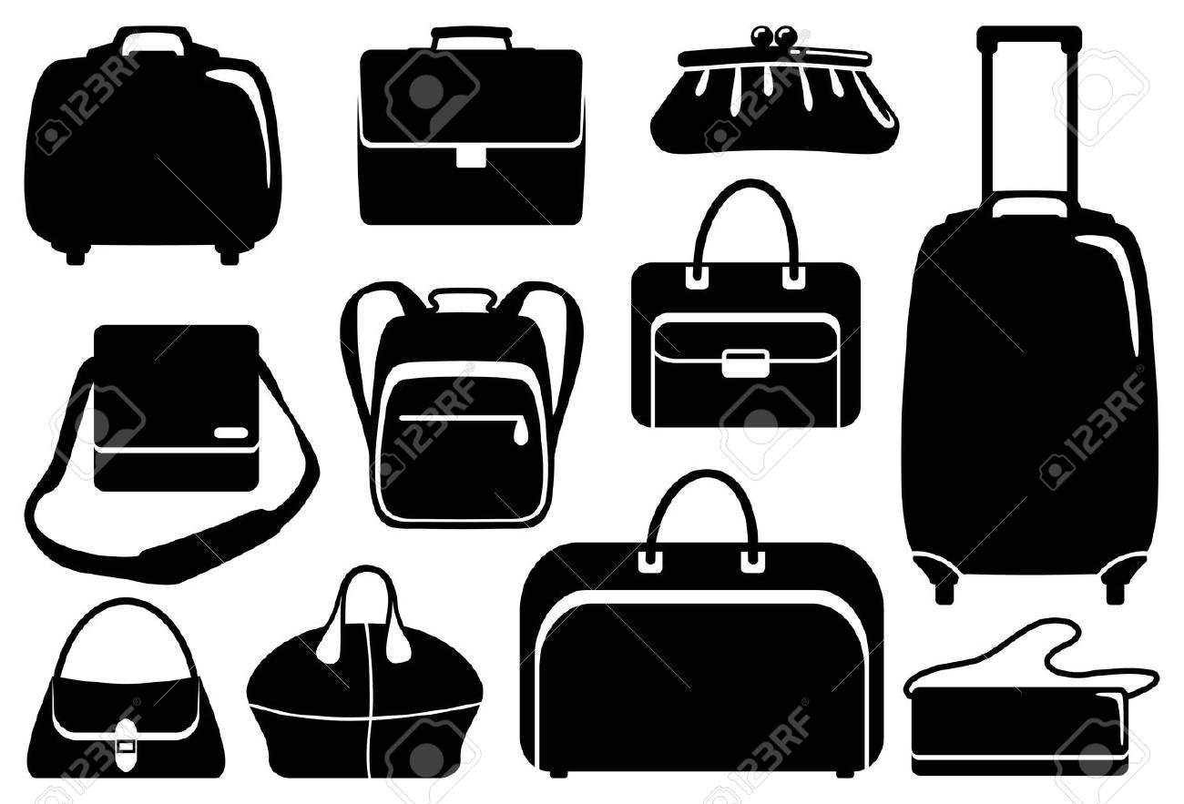 Bags and suitcases icons set Stock Vector - 8498759