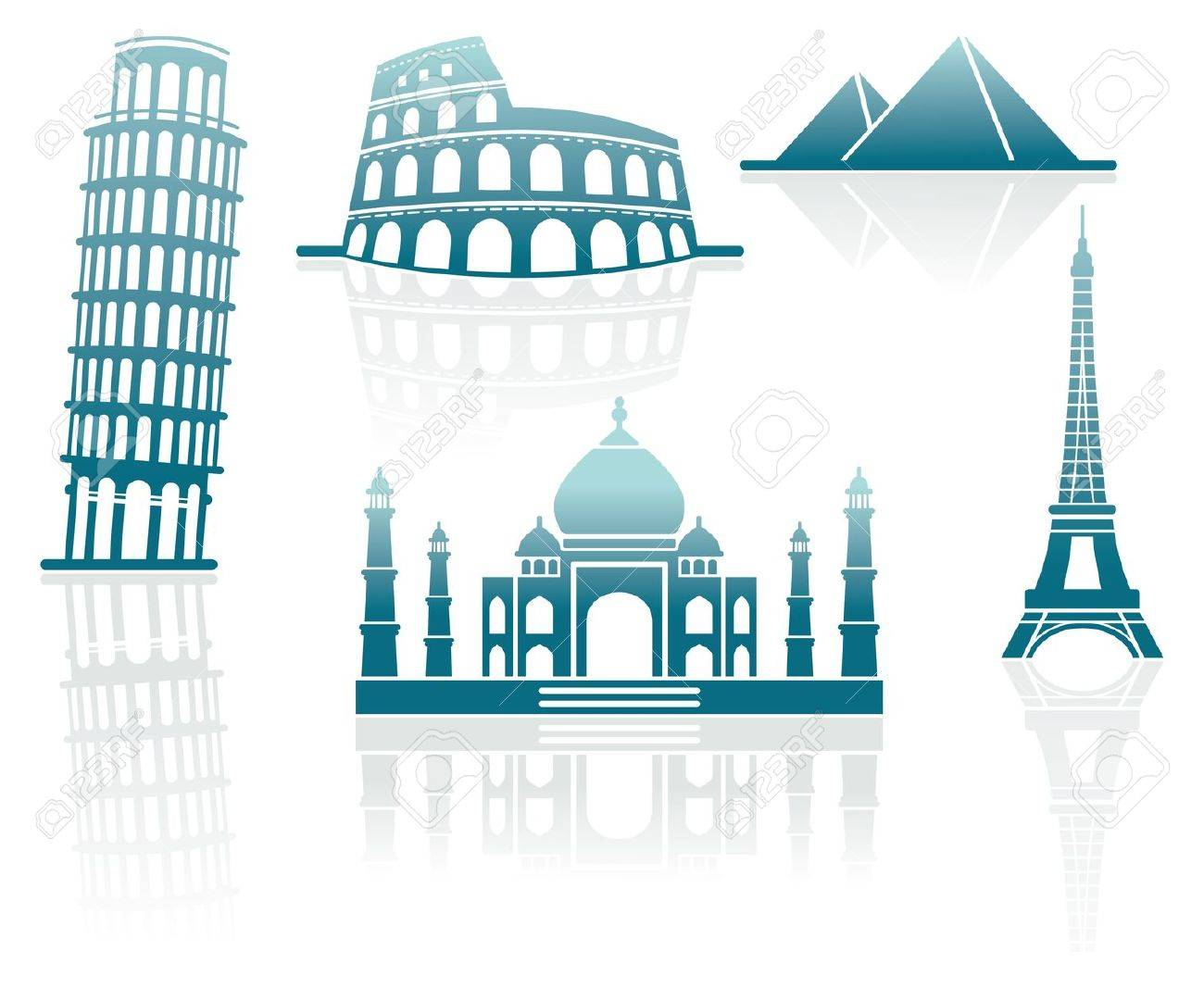 Icons of architectural monuments Stock Vector - 9565012