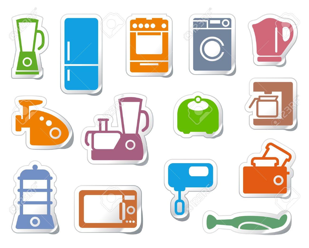 Kitchen Home Appliances Stock Vector 10059477